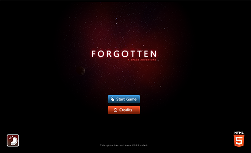 Forgotten: webGL video game screenshot